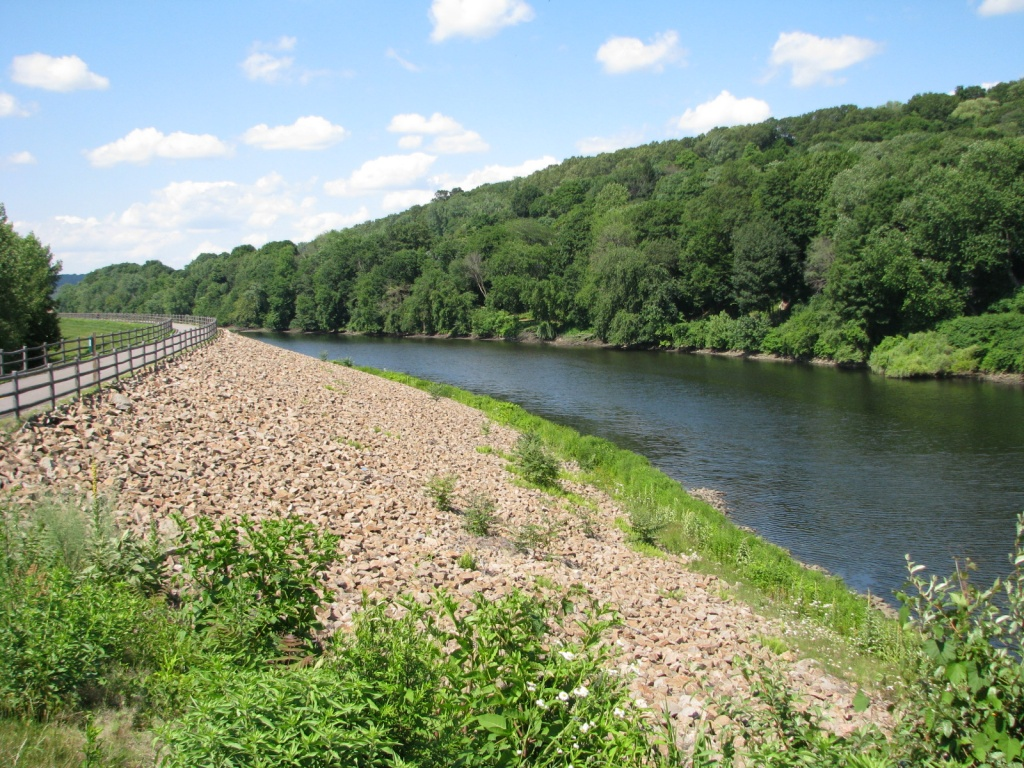 Derby Greenway Naugatuck River Floodwall- Courtesy HVA