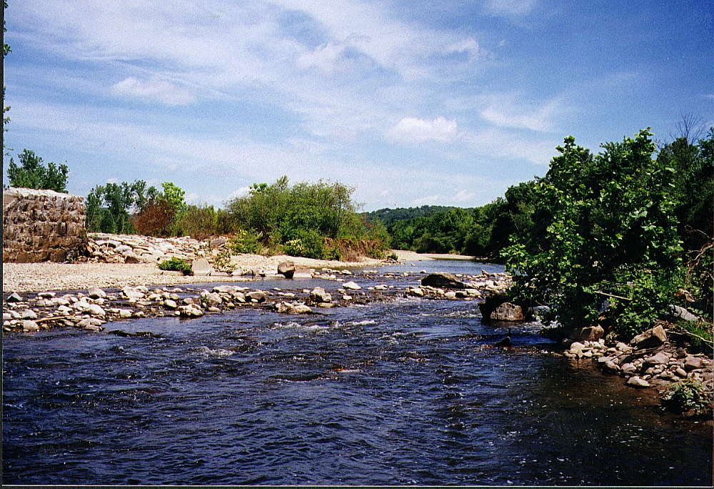 The site of the former Anaconda Dam in Waterbury.(courtesy L. Wildman/Milone & MacBroom)