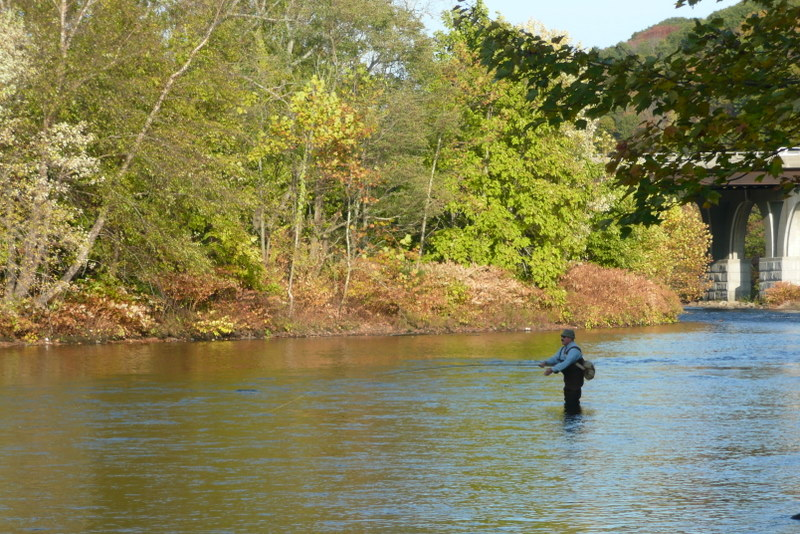 Fishing on the Naugatuck River Beacon Falls (Courtesy of NVCOG)
