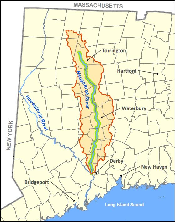 Map Naugatuck River Watershed