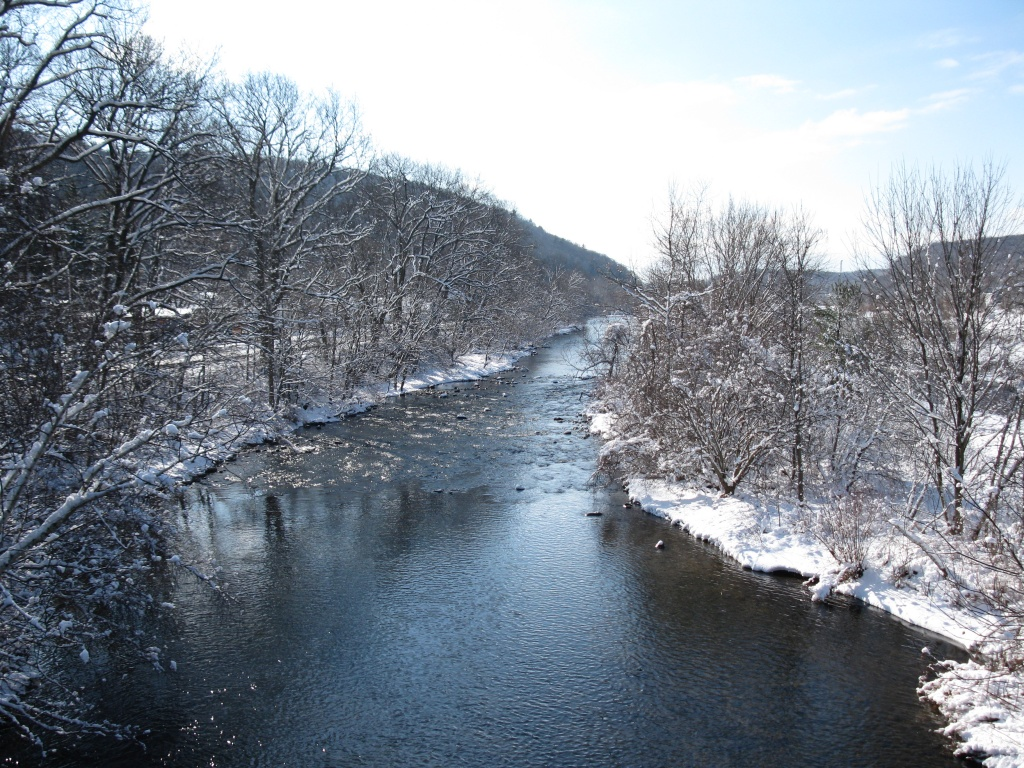 Naugatuck River in Winter Beacon Falls Pinesbridge (courtesy Michael A Krenesky)